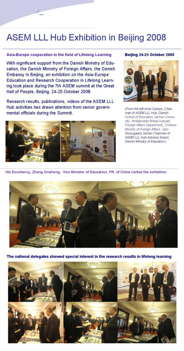 ASEM LLL HUb exhibition in Beijing 2008